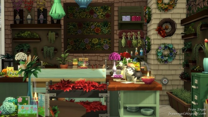 Flower shop No CC by Julia Engel at Frau Engel image 824 670x377 Sims 4 Updates