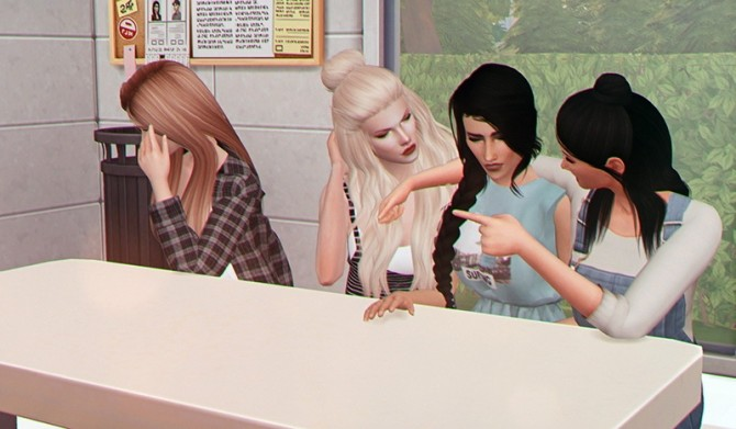 You Can't Sit with Us Pose at Josie Simblr image 831 670x391 Sims 4 Updates