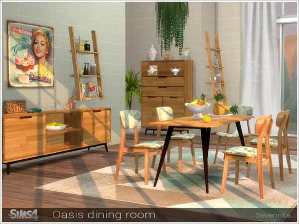 Oasis dining room by Severinka at TSR image 8320 Sims 4 Updates