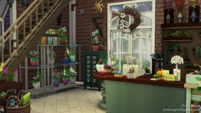 Flower shop No CC by Julia Engel at Frau Engel image 834 670x377 Sims 4 Updates