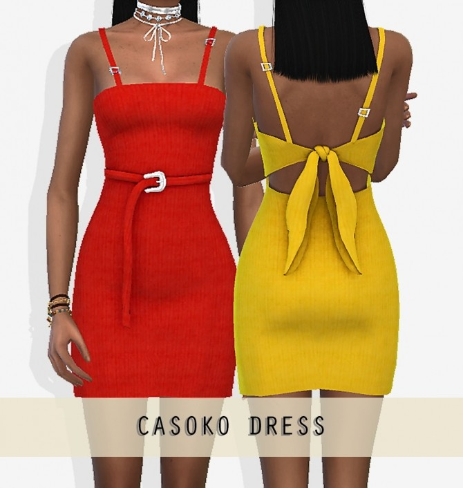 Sims 4 CASAKO DRESS at Grafity cc