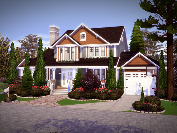 Oakwood house NO CC by melcastro91 at TSR image 840 Sims 4 Updates