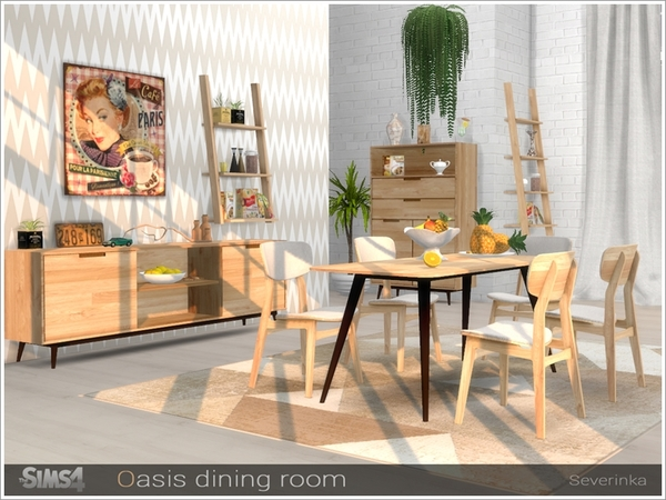 Sims 4 Oasis dining room by Severinka at TSR