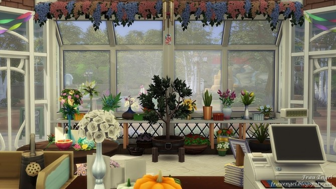 Flower shop No CC by Julia Engel at Frau Engel image 844 670x377 Sims 4 Updates