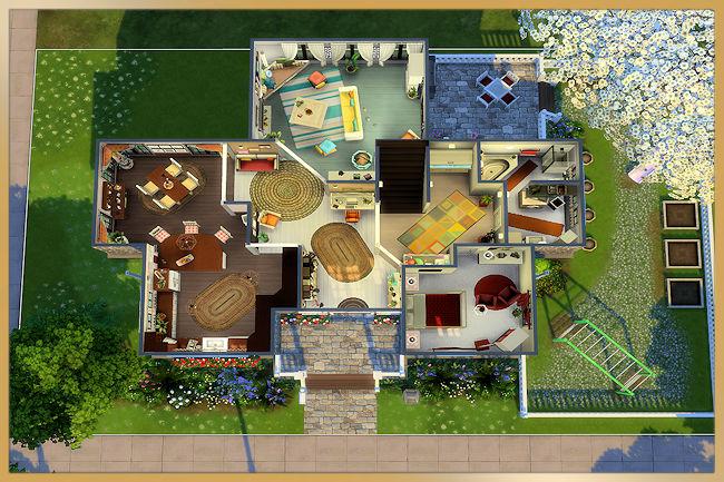 Sims 4 Family house by MissFantasy at Blacky's Sims Zoo