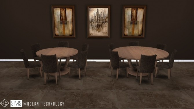 Lily Round Tables & Chair 3T4 Conversion at Sims Modern Technology image 85 670x377 Sims 4 Updates