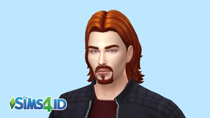 Sims 4 Beard Thin Goatee by David Veiga at The Sims 4 ID