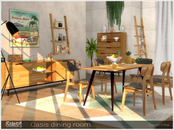 Oasis dining room by Severinka at TSR image 8519 Sims 4 Updates