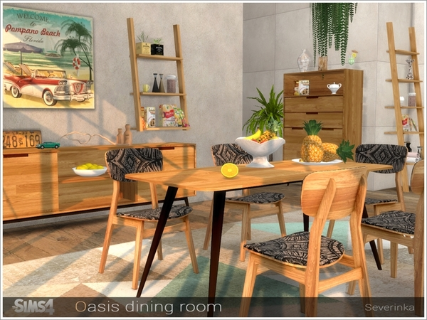 Oasis dining room by Severinka at TSR image 8619 Sims 4 Updates