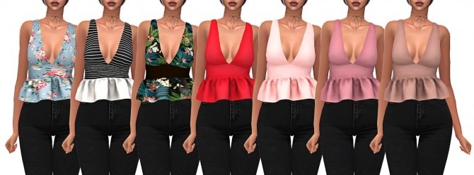 Sims 4 SOFIA TOP at FROST SIMS 4