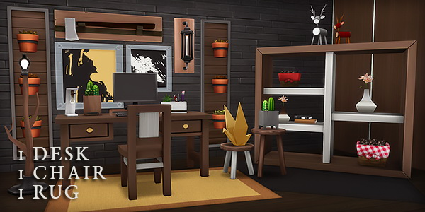 A STUDY IN WOOD at Wyatts Sims image 871 Sims 4 Updates