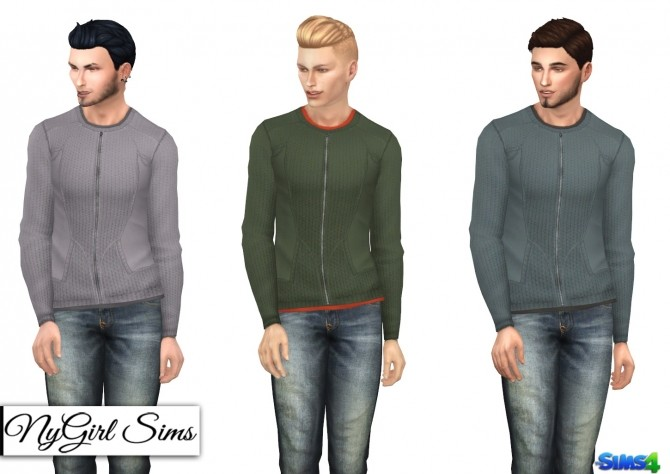 Double Layered Zip Up Sweater at NyGirl Sims image 882 670x474 Sims 4 Updates
