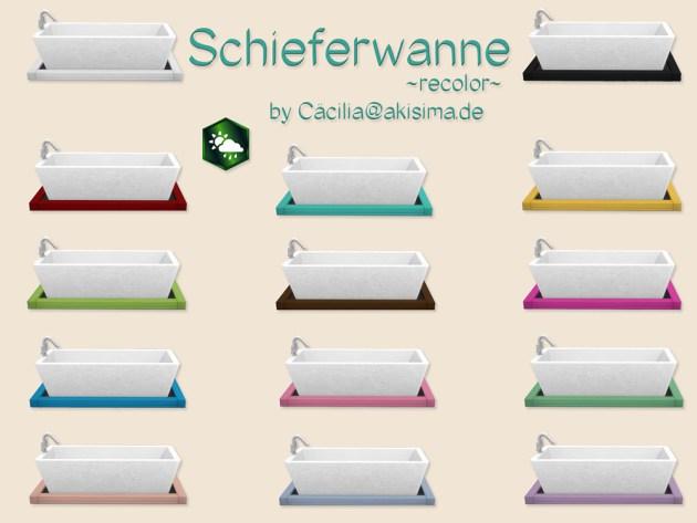 Sims 4 Bathtube recolors by Cacilia at Akisima