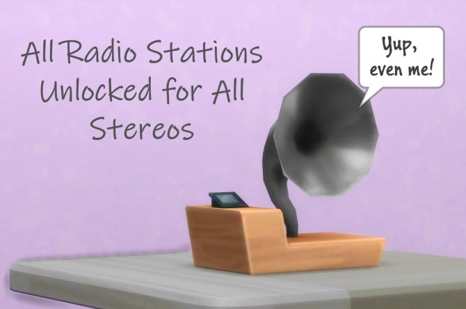 Sims 4 All Radio Stations Unlocked Updated by mars97m at Mod The Sims