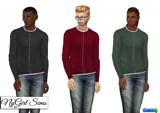 Double Layered Zip Up Sweater at NyGirl Sims image 892 670x474 Sims 4 Updates
