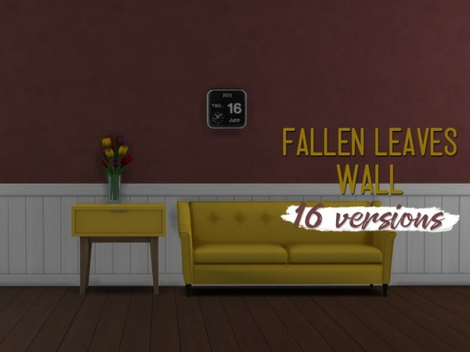 Fallen leaves wall at Midnightskysims image 899 670x503 Sims 4 Updates