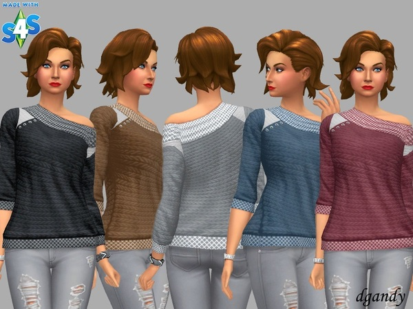 Sims 4 Sweater Demi by dgandy at TSR