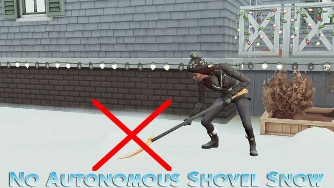 Sims 4 No Autonomous Shovel Snow at MSQ Sims