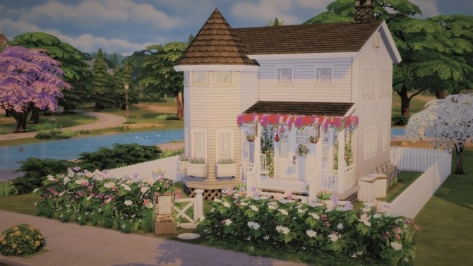 Sims 4 Little White House at Agathea k