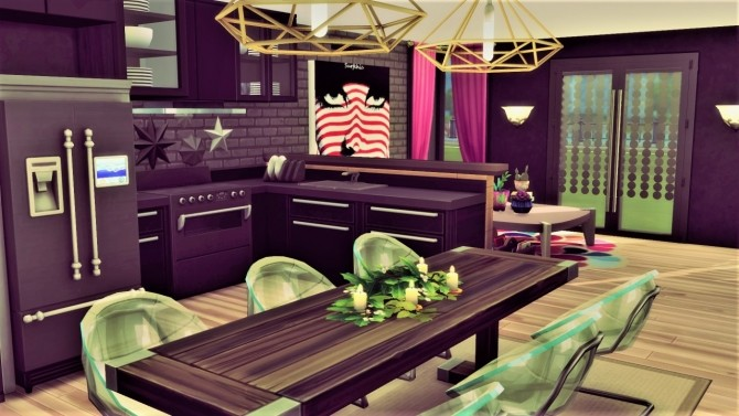 Spot of color kitchen at Agathea k image 9210 670x377 Sims 4 Updates