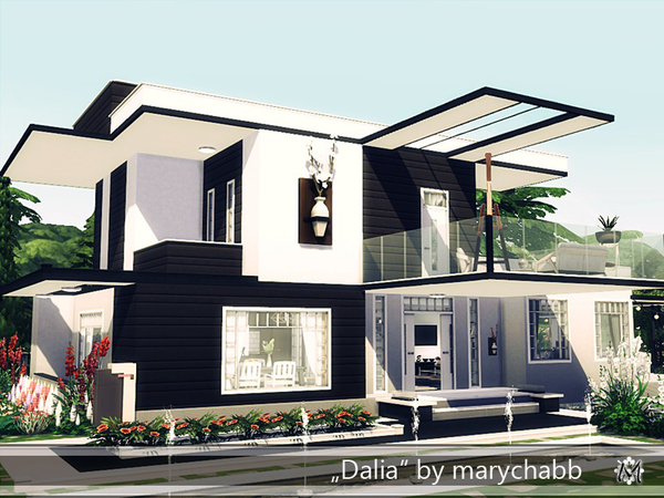 Dalia modern home by marychabb at TSR image 928 Sims 4 Updates