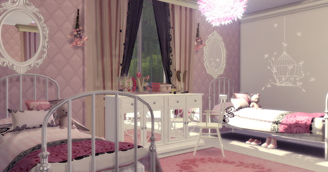 Twins Girls Dream Bedroom at Lily Sims image 929 Sims 4 Updates