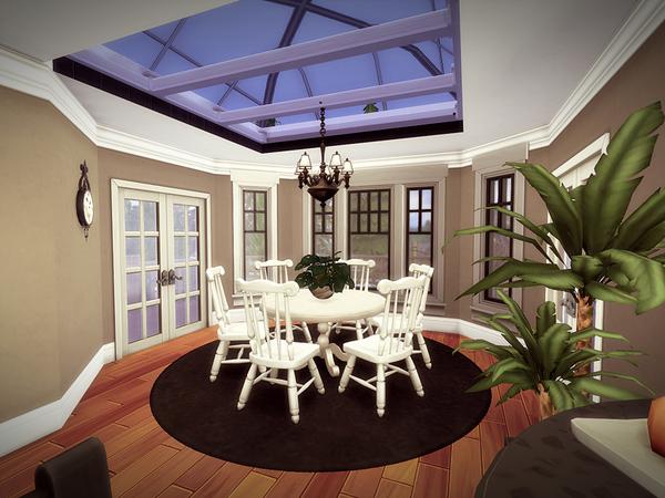 Sims 4 Oakwood house NO CC by melcastro91 at TSR
