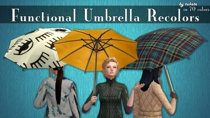 Functional Umbrella Recolors at Tukete image 9412 670x377 Sims 4 Updates