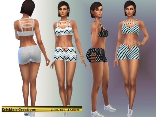 Sims 4 Athletic Set V1 by erickiacoleman at TSR