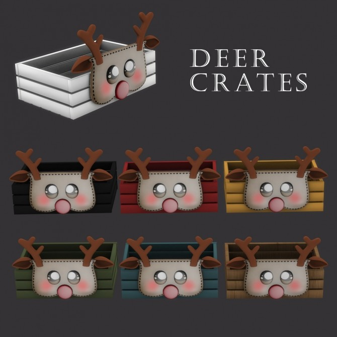 Sims 4 Deer Crate at Leo Sims