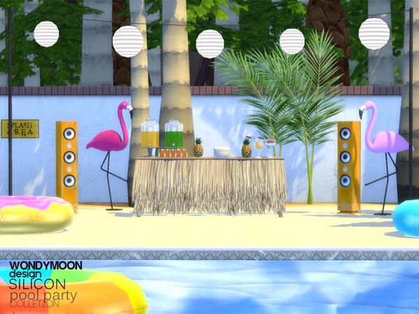 Sims 4 Silicon Pool Party Part II by wondymoon at TSR