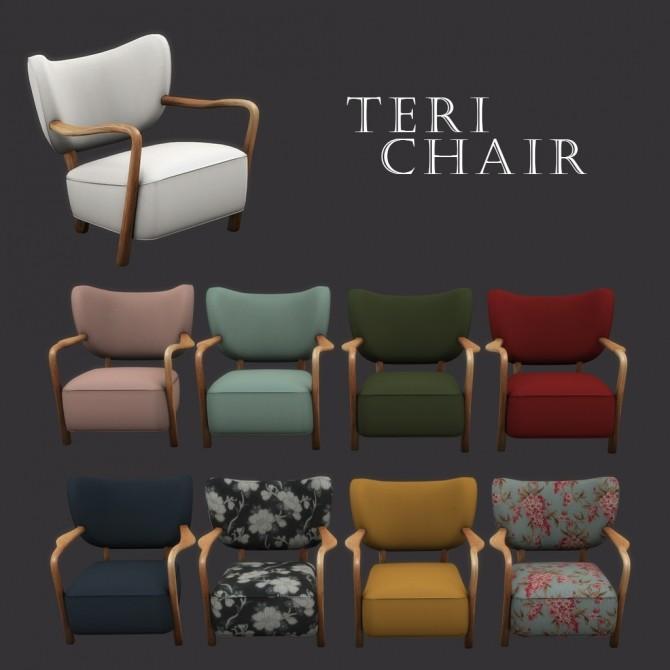 Sims 4 Teri Chair at Leo Sims