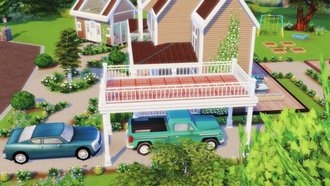Sims 4 RUSTIC LIVING 3 bedroom farmhouse at BERESIMS