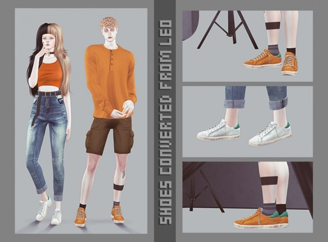 Sims 4 Converted shoes from Leo 1 at Magic bot