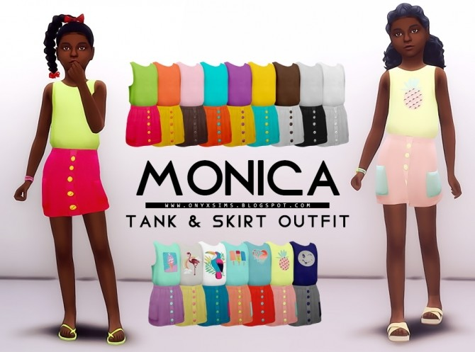Sims 4 Monica Dress at Onyx Sims