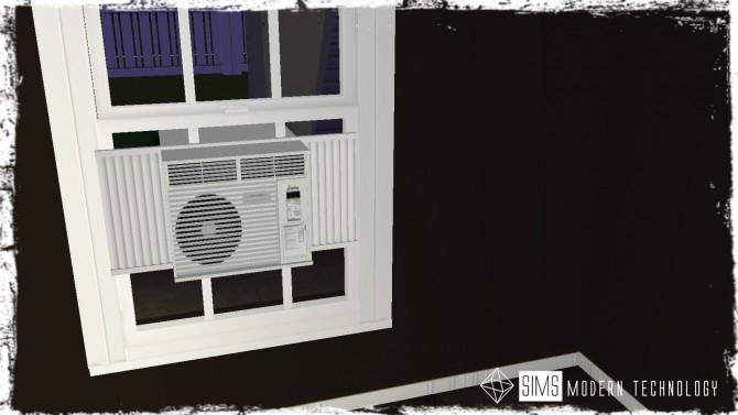 MLC Functional Window Air Conditioner 2T4 Conversion at Sims Modern Technology image 976 670x377 Sims 4 Updates