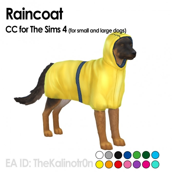 Jacket, raincoat and jumpsuit for pets at Kalino image 999 670x670 Sims 4 Updates