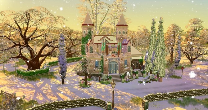 Sims 4 Elven Castle by Angerouge at Studio Sims Creation