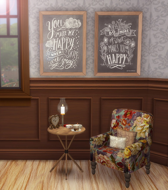 Sims 4 Chalkboard Art Collection at Lily Sims