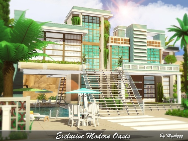 Exclusive Modern Oasis by MychQQQ at TSR image 1014 Sims 4 Updates