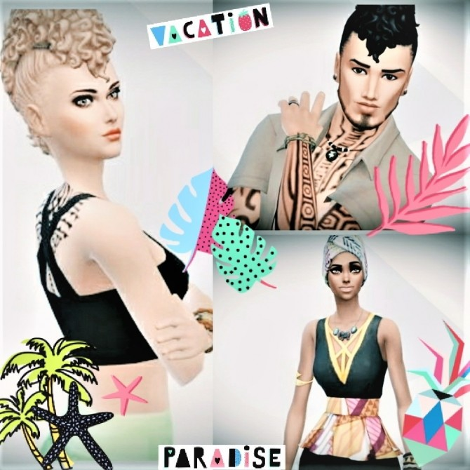 Sims 4 Sim in caribbean new style at Agathea k