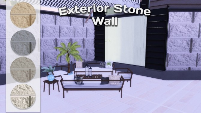 Exterior walls & mural nature at Simming With Mary image 1044 670x377 Sims 4 Updates