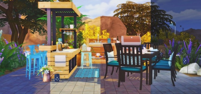 Sims 4 Barbecue Time set at Pyszny Design