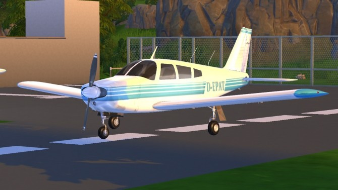 Piper PA 28 Cherokee plane at Tyler Winston Cars image 1053 670x378 Sims 4 Updates
