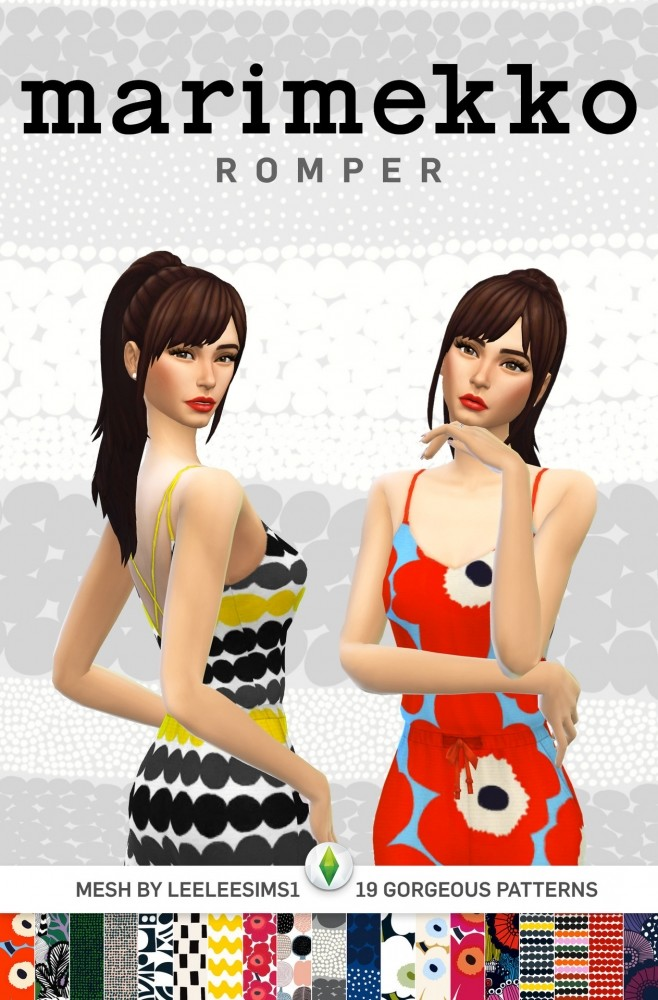 Marimekko Rompers at SimPlistic image 1054 658x1000 Sims 4 Updates