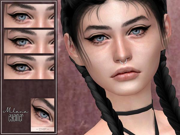 Sims 4 IMF Milana Eyeliner N.18 by IzzieMcFire at TSR
