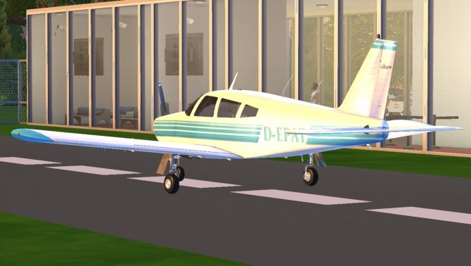 Piper PA 28 Cherokee plane at Tyler Winston Cars image 1063 670x378 Sims 4 Updates