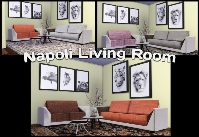 Sims 4 Napoli Living Room at Simming With Mary