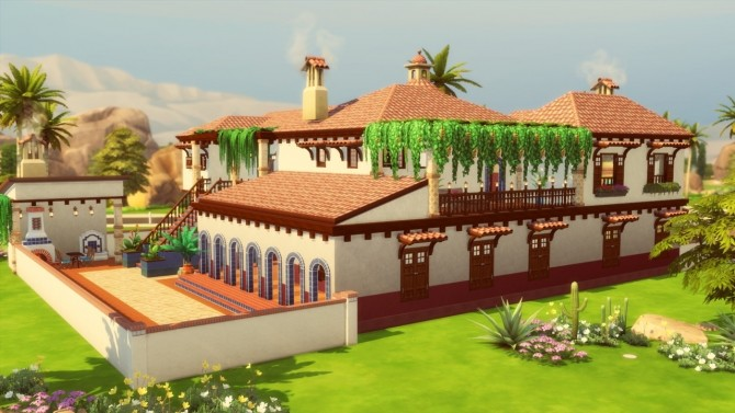 Mediterranean House at Simming With Mary image 1079 670x377 Sims 4 Updates