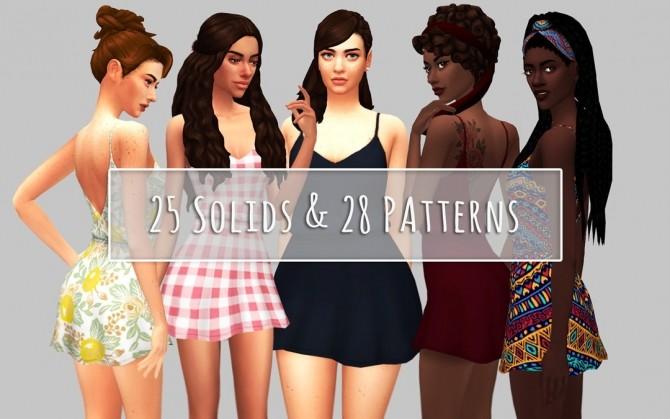 Sims 4 Maya Hair & Pippa Dress at Saurus Sims